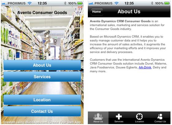 IBuildAvento - mobile app