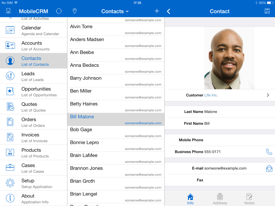 RescoPictureContact - mobile crm