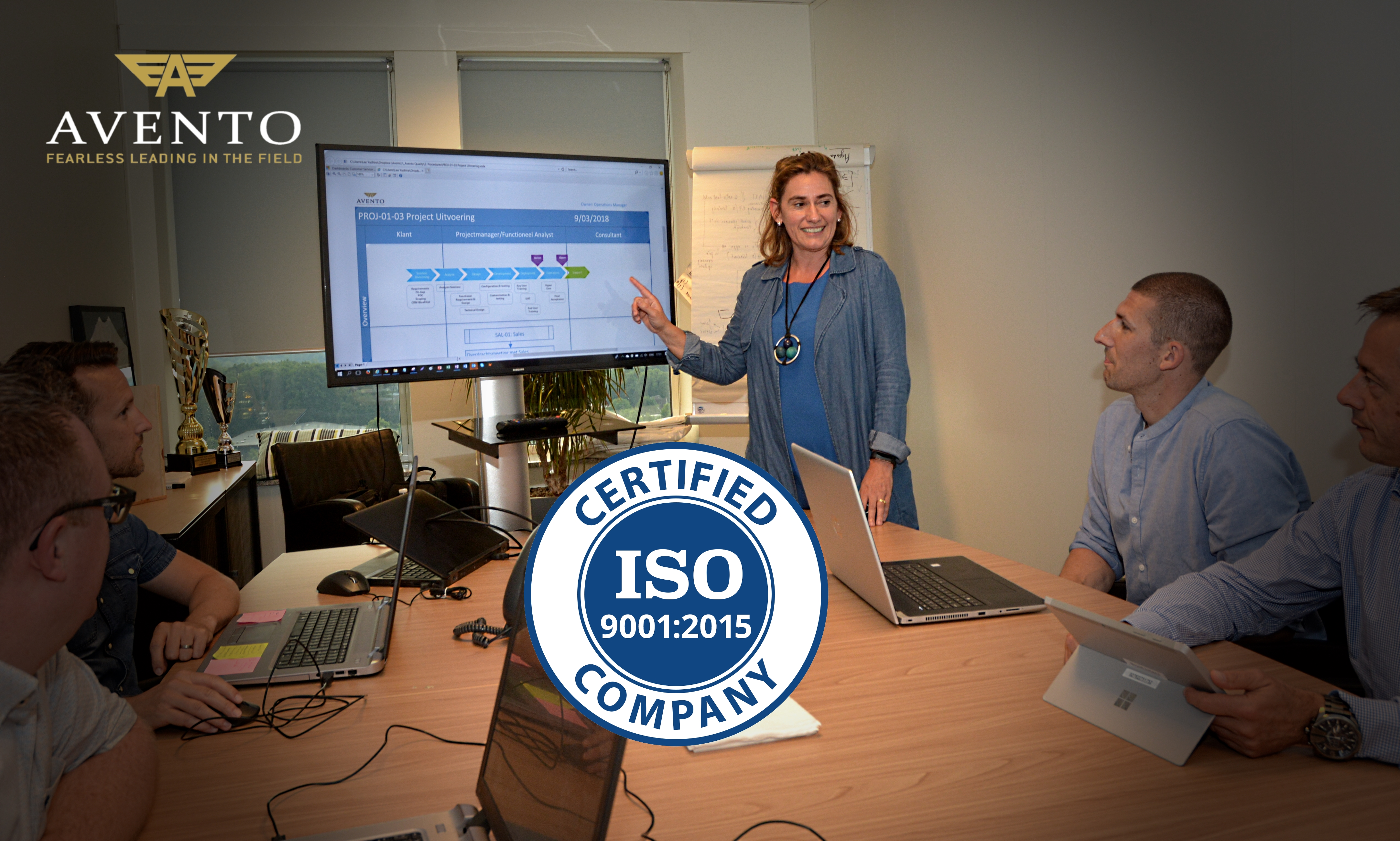 Avento behaalt ISO 9001:2015 certificatie.
