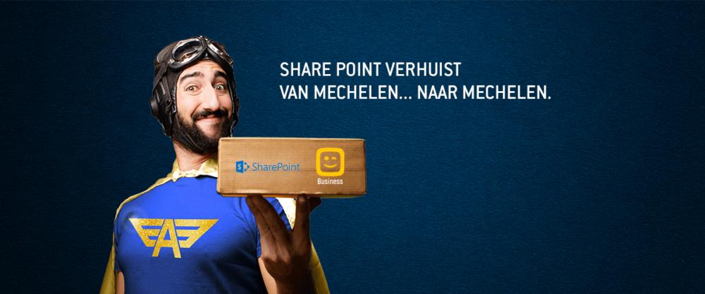 SharePoint verhuist van Mechelen naar Mechelen