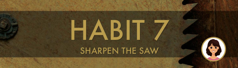 De reflectie van Ann: Sharpen The Saw