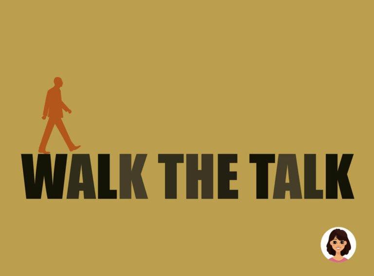 De reflectie van Ann: walk the talk